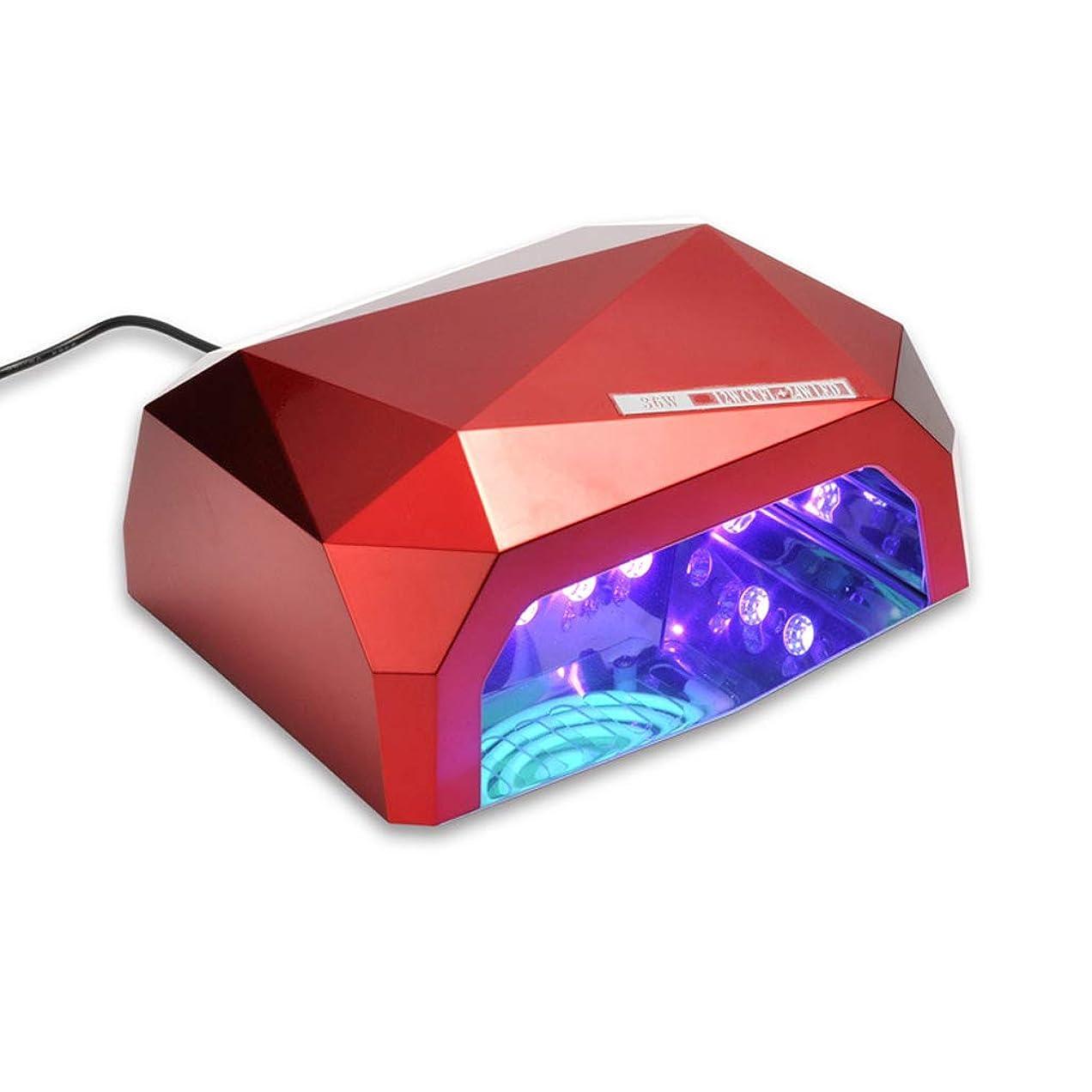 霜適切に小切手ネイルLEDライトセラピーマシン、36Wダイヤモンドクイックドライネイル接着剤インテリジェントタイミングベイクランプ
