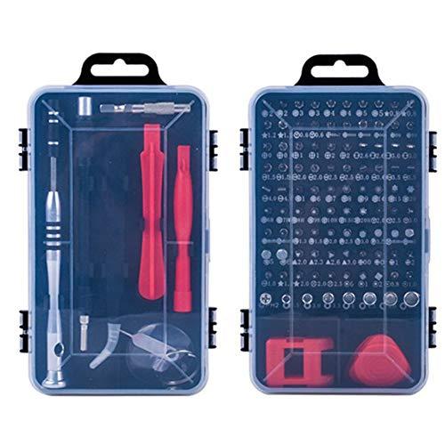 Refaxi - Juego de destornilladores, juego de destornilladores de precisión, herramienta de reparación de teléfono para ordenador (negro rojo)