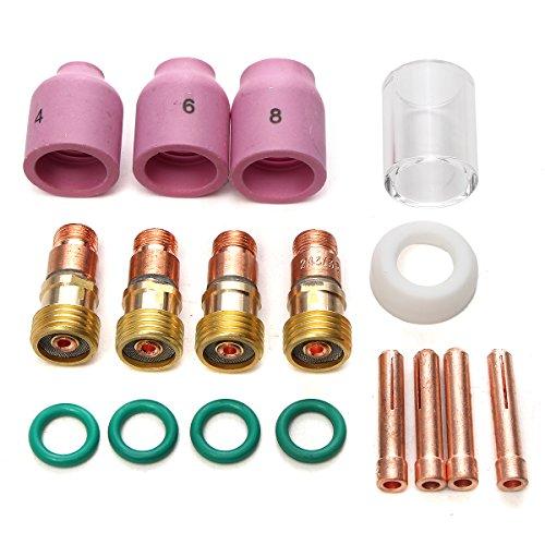 Forspero 17Pcs Wp17 / 18/26 2.4Mm 3/32 Pulgadas Tig Stubby Gas Lens...