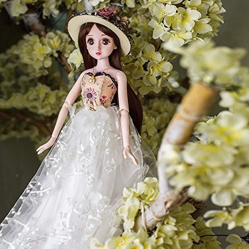 ZNDDB 12 Gelenke Reborn Baby doll,Kann Sich schminken und Kleidung wechseln, 60cm