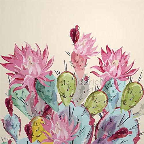 daoyiqi Juego de pegatinas decorativas para azulejos, diseño de cactus, 30,5 x 30,5 cm, vinilo impermeable para decoración de la cocina, el hogar