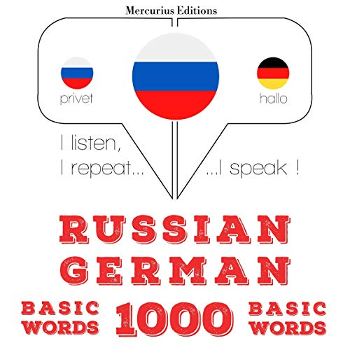 Russian - German. 1000 basic words cover art