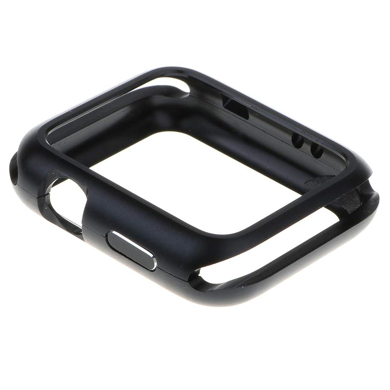 馬鹿げた抵抗種類スリム 磁気 ウォッチ カバー ケース 保護 磨損防止 Apple iWatch 42mmに対応 全3色 - 黒