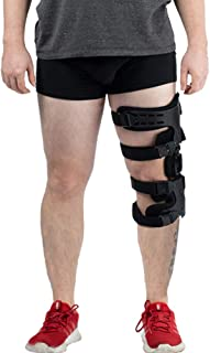 Hinged Knee Brace, Adjustable Post-Op Knee Support OA Unloading Knee Brace for ACL/Ligament/Sports Injuries, Mild Osteoarthritis & Preventive Protection Knee Joint Pain/Degeneration - Left…