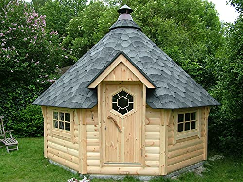 Generisch Grillkota 9m²   Hochwertiges Grillhaus für den Garten   Als Bausatz inkl. Montagematerial Via Nordica