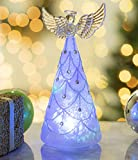Angel of Light Glass LED Color Changing Statue