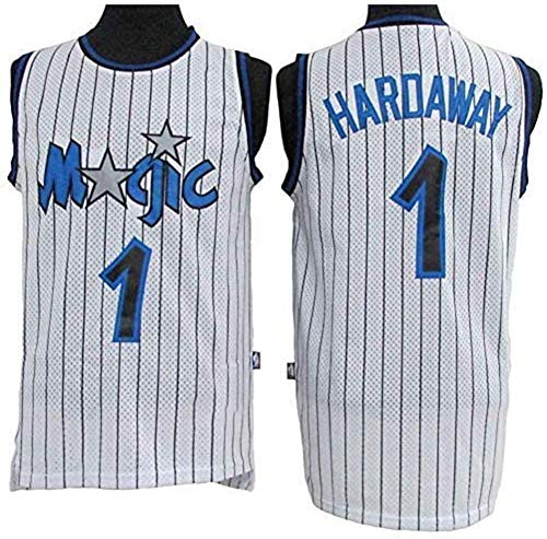 WSUN Maglia da Basket NBA da Uomo Orlando Magic 1# Penny Hardaway Jersey NBA Unisex Top Senza Maniche Sport all'Aria Aperta Tute da Competizione Gilet,L