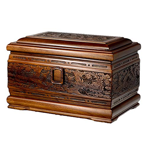Large Urns for Human Ashes, Cremation Urn Honor Your Beloved One with a Unique and Exquisite Shape (Yellow Sandalwood, 400 Cubic Inches)