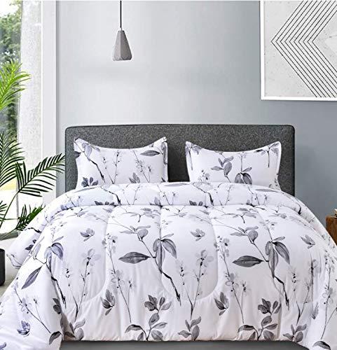 NANKO - Juego de cama de microfibra reversible para todas las estaciones y 2 fundas de almohada para mujer, tamaño 88 x 90 cm