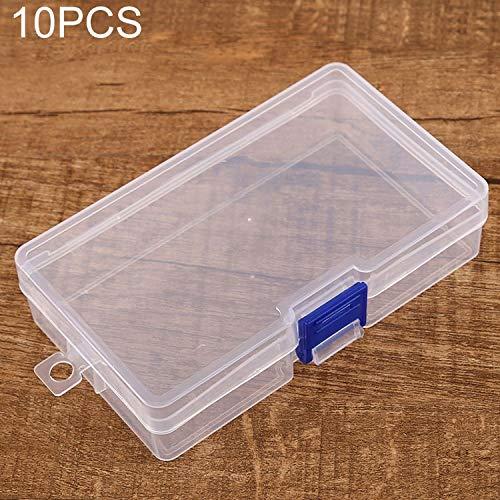 QICHENGBIN Mini Coffret à Bijoux 10 PCS Effacer Boîte en Plastique Conteneur de Stockage, for la Maison/Bureau