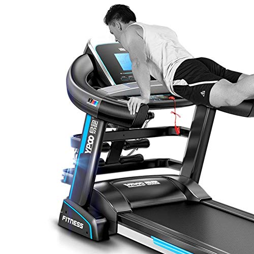 AZZ - Cinta de correr Techness, cinta de correr reclinable plegable, ascensor eléctrico, ajuste de la pendiente, ajuste de 15 velocidades, pantalla LCD Fitness Deportivo en Familia
