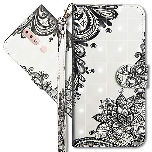 MRSTER Nokia 4.2 Handytasche, Leder Schutzhülle Brieftasche Hülle Flip Hülle 3D Muster Cover mit Kartenfach Magnet Tasche Handyhüllen für Nokia 4.2. YX 3D - Lace Flower
