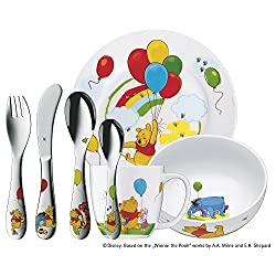 "WMF Kindergeschirr Kinderbesteck Set ""Winnie Pooh"" 7-teilig"