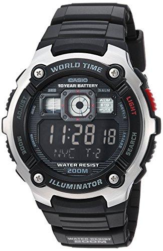 Casio Men's Classic Quartz Watch with Resin Strap, Black, 23 (Model: AE-2000W-1BVCF)