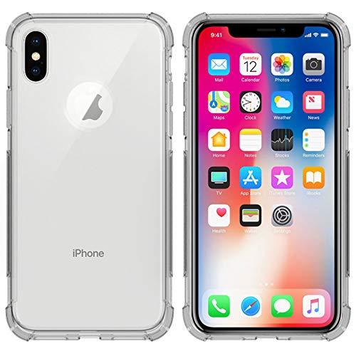 iMoshion kompatibel mit iPhone X,iPhone XS Hülle – Shockproof Case Handyhülle – Silikon Schutzhülle in Durchsichtig/Transparent [Verstärkte Ecken, Stoßfest, Dünn]