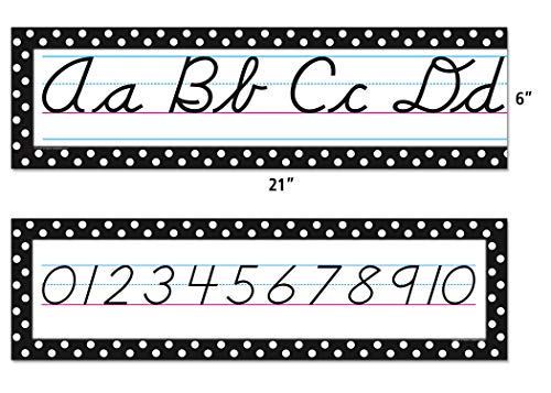 Teacher Created Resources Cursive Mini Bulletin Board, Black (4099) Photo #3