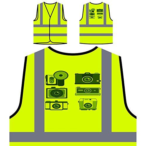 Video De La Cámara De Fotos Chaqueta de seguridad amarillo personalizado de alta visibilidad p715v