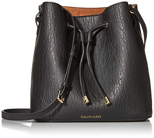 Calvin Klein Gabrianna Novelty Bucket Shoulder Bag, Black