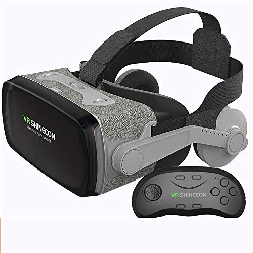 Auriculares VR, Auriculares de Realidad Virtual, Gafas VR, Gafas VR: para Videojuegos de películas VR 3D, Compatible para iPh 7/7 + / 6s / 6 + / 6/5, Samsung, Huawei, Google,C