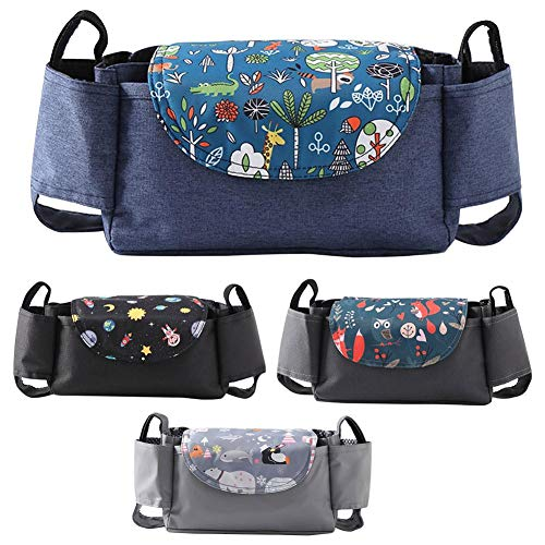 Goodtimera Baby Stroller Bag With Cup Holders, Stroller Accessories Organizer Bag Baby Stroller Hanging Bag Baby Travel Bag, Fit Most Baby Stroller Models And Pet Stroller