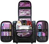 Hanging Toiletry Bag for Women and Men, Cosmetics Travel Bag, Secures Travel and Full-Size Toiletries Inside...