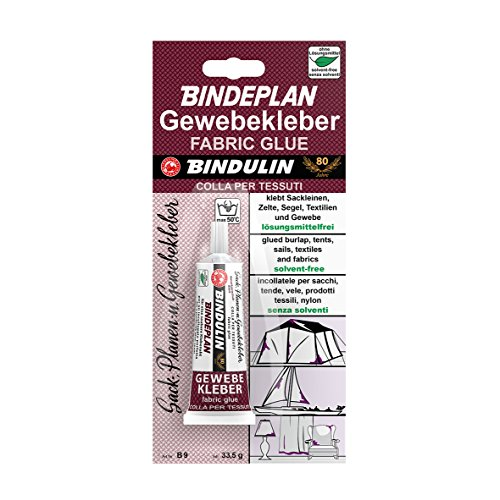 Bindulin Bindeplan Textilkleber, Gewebekleber, ohne Lösungsmittel, Inhalt: 33,5g