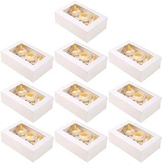 Blanc LEZED Boite Transport Gateau Porte Gateau avec Couvercle Bo/îte /à Muffin Transparent Transport de P/âtisserie 26 x 22,5 x 13,5 cm