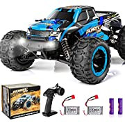PHYWESS RC Cars Remote Control Car for Boys 2.4 GHZ High Speed Racing Car, 1:16 RC Trucks 4x4 Offroad with Headlights, Electric Rock Crawler Toy Car Gift for Kids Adults Girls