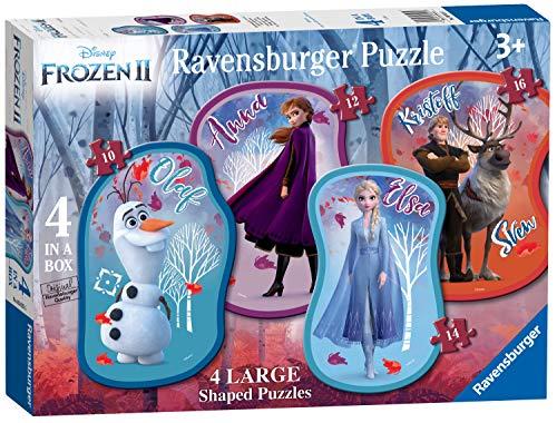 Ravensburger Disney Frozen 2, 4 Rompecabezas Grandes (10,12,14,16 Piezas), Color (3025)