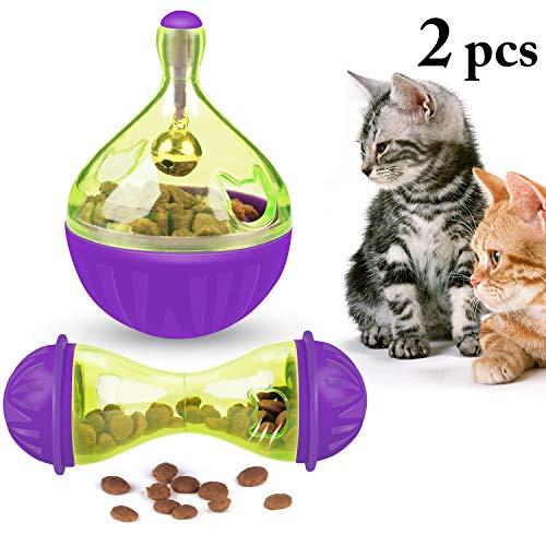 Legendog Bola De Comida para Gatos Dispensación De Juguete para Mascotas Bola De Ratones De Alimentación Lenta Bola En Forma De Gato Bola De Alimentos para Mascotas
