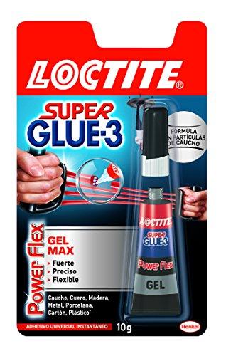 Loctite Super Glue-3 Power Flex formato gel Control, adhesivo instantáneo, 10gr