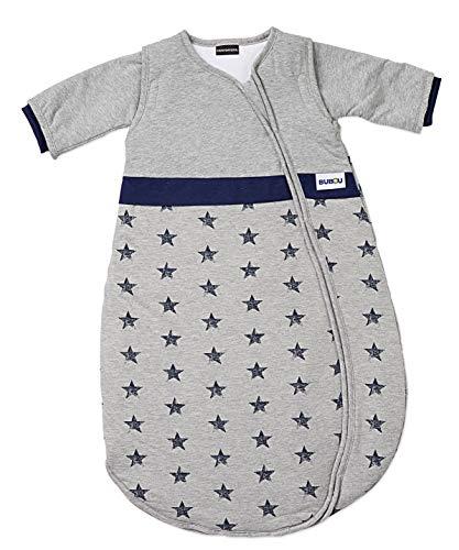 Gesslein Schlafsack Bubou, Größe 50/60 , Farb-Nr. 144 grau mit blauen Sternen, Artikel-Nr. 770144