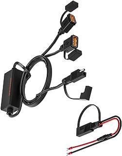 WINOMO SAE till USB-kabel adapter motorcykel enkel USB-kabel adapter dubbel USB-laddare uttag motorcykel USB snabb snabbla...