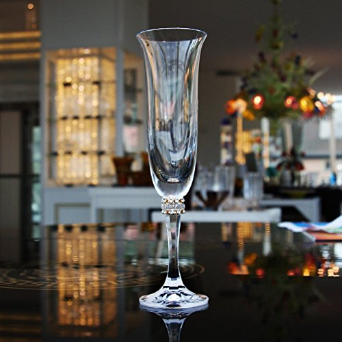 Flûte de champagne Kleopatra 175ml, transparent, verre, (GERMAN Cristal powered by CRISTALICA)