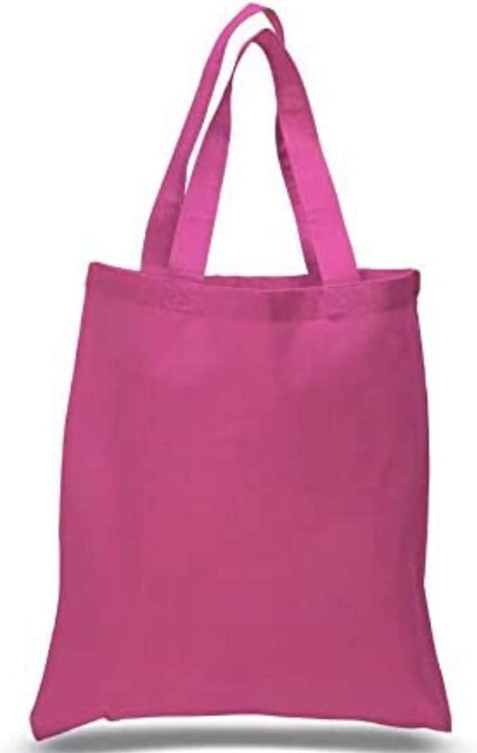 Pack Sale Special Price of Easy-to-use 36 Hot Pink Color Reusable 15 Canvas Bags Tote Cotton