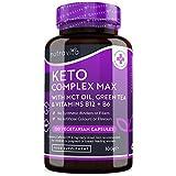 Keto Complex Max - Suministro para 2 mes (120 cápsulas) - Píldoras Dietéticas Keto para Hombres y Mujeres - MCT, té verde, vitaminas y minerales – combinar con dieta keto - fabricado por Nutravita