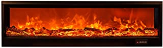 YXZQ Electric Fireplace, Wall Mounted for Electric Fireplace, Log Set & Flame Burning Decorative Effect Fireplace, Recesse...