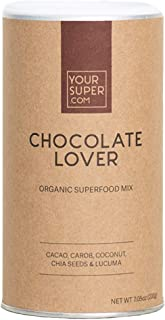 Chocolate Lover Superfood Mix by Your Super | Plant Based Mood Enhancement Powder | Reduce Sugar Cravings | Essential Vitamins, Minerals, Antioxidants | Non-GMO, Organic Ingredients