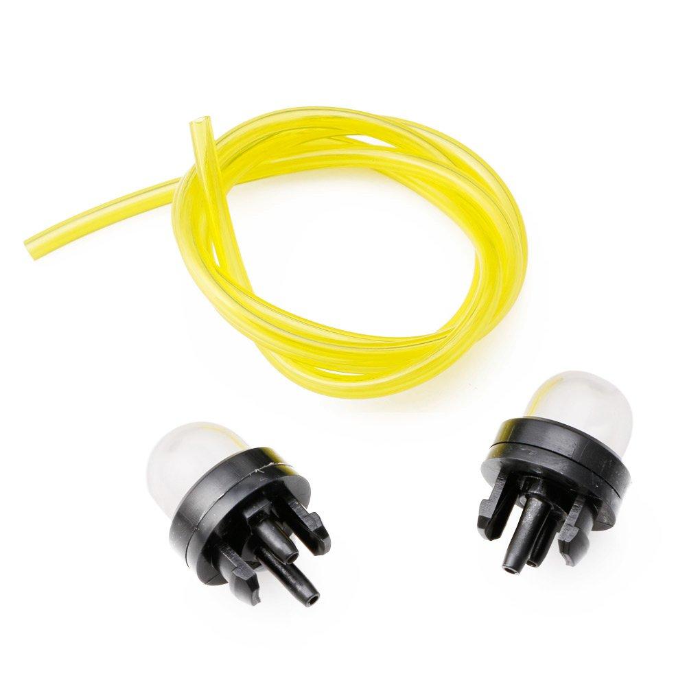Manyo – Juego de 3 bombillas de arranque + tubo de gasolina (2 mm x 3,5 mm), manguera de combustible para soplador cortabordes, motosierra, desbrozadora, 60 cm: Amazon.es: Bricolaje y herramientas