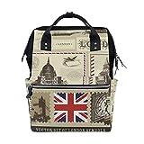 LUPINZ Vector Set de bolsas de pañales para el cuidado del bebé con patrón de símbolo de Londres
