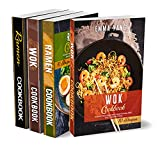 Stir Fry And Ramen Cookbook: 4 Books In 1: 280 Recipes For Authentic Asian Food (English Edition)