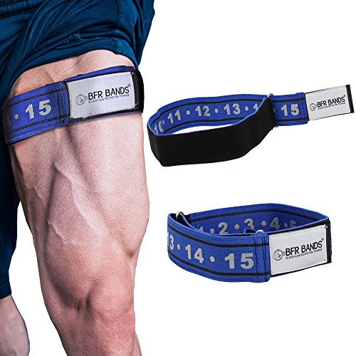 """BFR BANDS Blood Flow Restriction Bands (Rigid Edition, 2"""" Wide) - Occlusion Workout Bands for Men and Women - Straps for Booty, Thigh, Bicep and Glutes, Set of 2"""