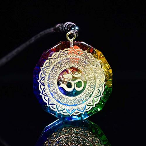 DAXWEV Orgonite Anhänger, Om Symbol Halskette Chakra Healing Energy Halskette Meditation Schmuck Handgefertigt