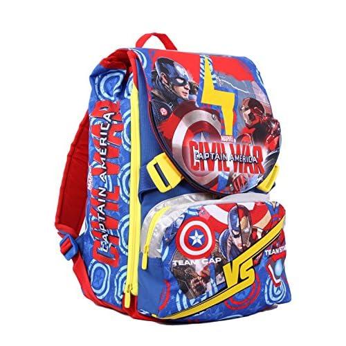 Zaino Captain America Civil War - Sdoppiabile, 28 litri, Poliestere, Multicolore
