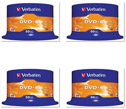 200 DVD VERGINI VERBATIM 100 % ADVANCED AZO+ PROTECTION IN CAKE BOX