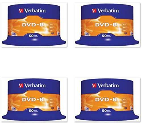 200 DVD VERGINI VERBATIM 100 % ADVANCED AZO+ PROTECTION IN CAKE BOX