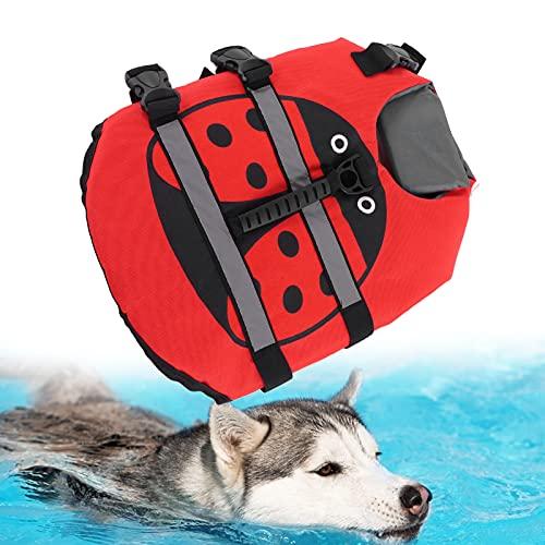 BOTEGRA Chaleco Salvavidas para Perros, Chaleco Salvavidas Ajustable para Perros para Nadar y pasear en Bote(M)
