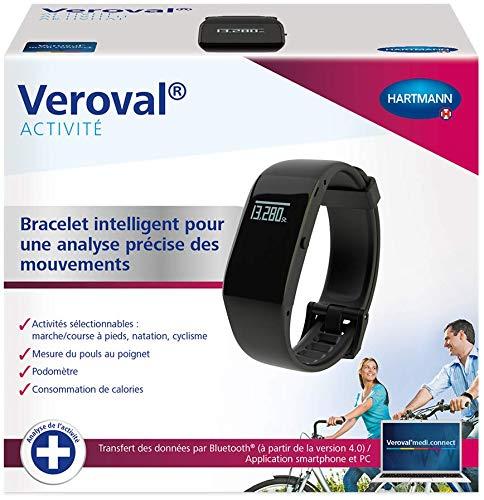 VEROVAL® - Bracelet d'Activité - Analyse et Suivi du Niveau d'Activité Physique - Produit Connecté - Étanche jusqu'à 30 m - Mesure du pouls, Podomètre, Suivi du Sommeil et Plus