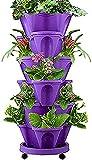 Torre Fiore impilabile, 1pcs Vaso per piantare Frutta Melone vegetale, Vasi per piantagion...