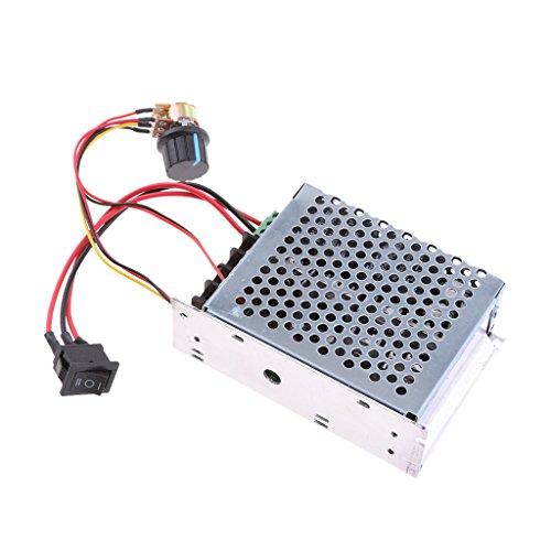 F Fityle PWM 10-50V DC Interruptor de Botón de Control de Motor Reversible